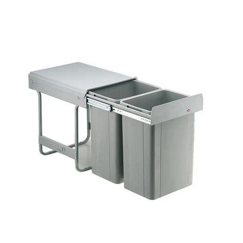 poubelle de cuisine tri s駘ectif 2 bacs poubelles coulissantes pour tri s 233 lectif 2 bacs de 26 l