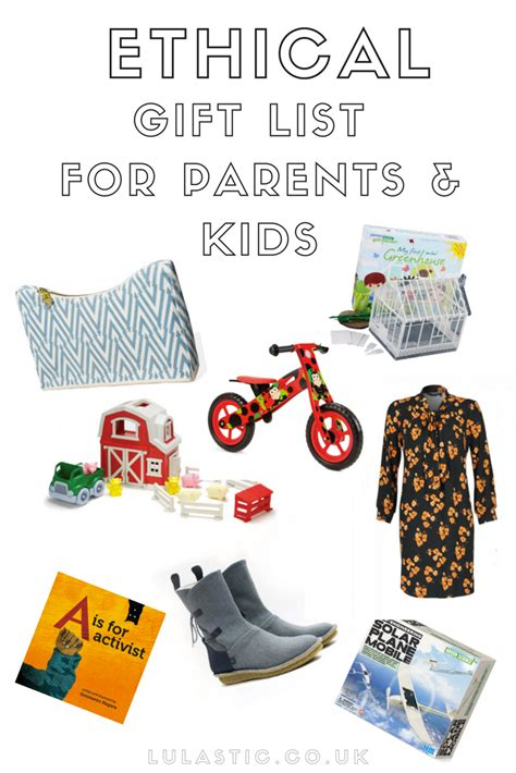 an ethical christmas gift guide for parents and children