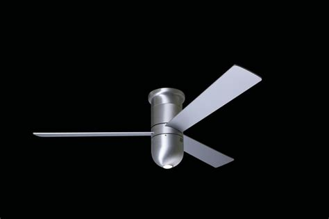 36 Inch Ceiling Fans Flush Mount by 36 Cirrus 1 Light 36 Quot Flush Mount Fan In Brushed Aluminum