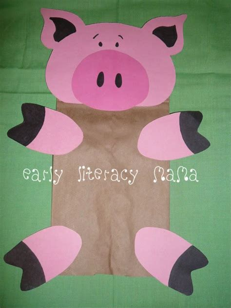 pig puppet template 25 best ideas about pig crafts on farm animal