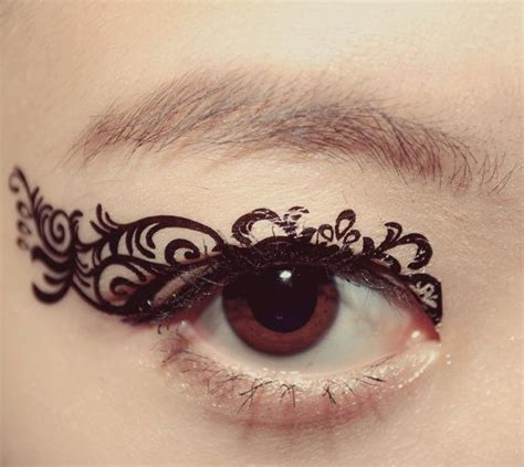 temporary eye tattoos 1 pair eye temporary makeup eyeshadow black