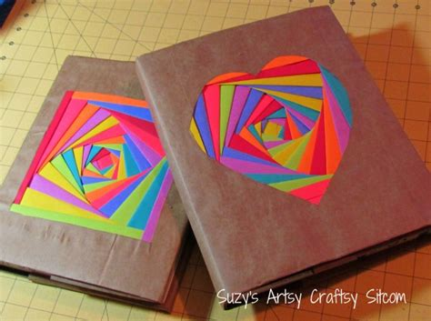 Paper Crafts For Teenagers - creating colorful book covers with astrobrights papers