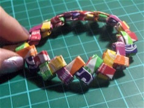 Origami With Starburst Wrappers - wrapper bracelet 183 how to weave a wrapper bracelet