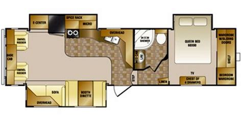 crossroads rv floor plans 2011 crossroads rv cruiser fifth wheel series m 30 sk