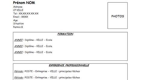 Modèle Présentation Cv by Resume Format Pr 233 Sentation De Cv