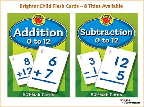 phonics brighter child flash 0769647499 world of wonders brighter child flash cards