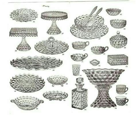 vintage glass pattern identification catalog american fostoria pinterest catalog vintage