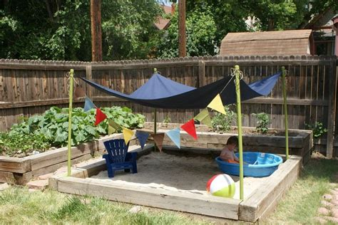 backyard sandpit backyard sandbox gardening pinterest