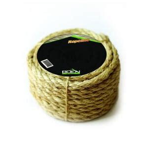boen 3 8 in x 100 ft 3 strand twisted sisal rope
