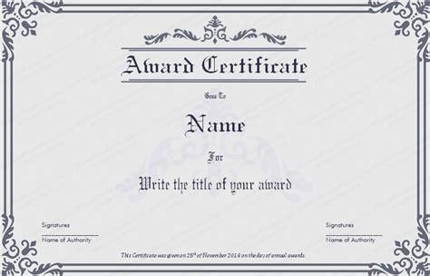 Dignified Award Certificate Template   Get Certificate