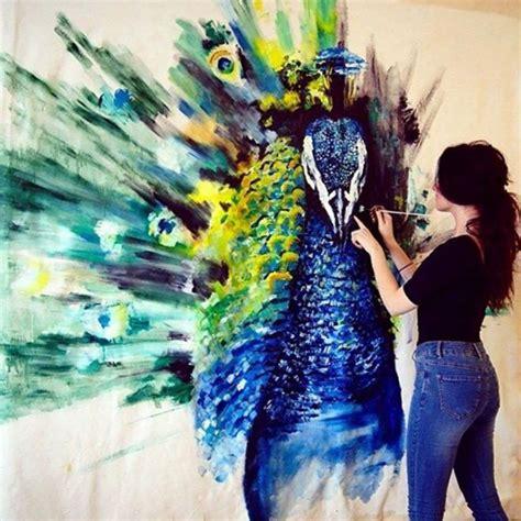 Blue Bedroom Paint Ideas peacock painting by katy jade dobson