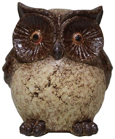 angelo d 233 cor clay owl statue 9 inch the home depot canada