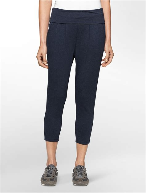 Jogger Soft Blue calvin klein white label performance pleated soft crop