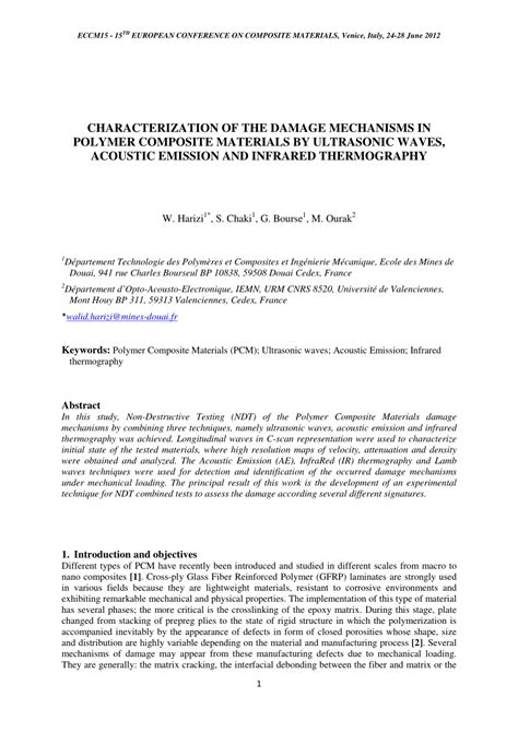 (PDF) CHARACTERIZATION OF THE DAMAGE MECHANISMS IN POLYMER