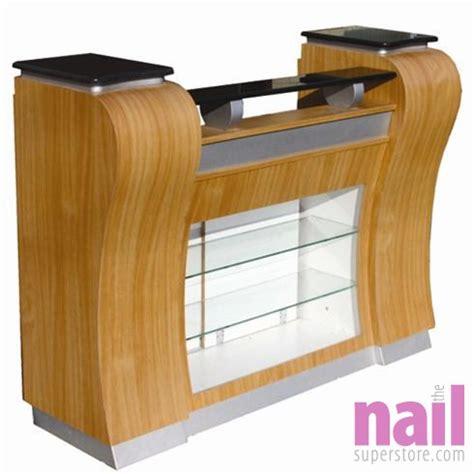 Nail Reception Desk Eurostyle Platinum Maple Reception Desk