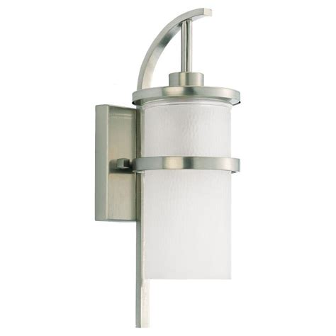 Brushed Nickel Outdoor Light Fixtures Sea Gull Lighting Outdoor Cylinder Collection 2 Light Painted Brushed Nickel Outdoor Wall