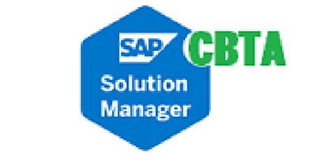 sap cbta tutorial sap solution manager 7 2