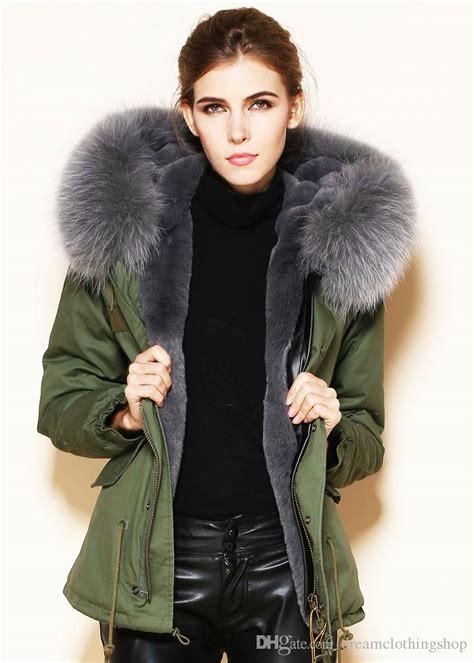 Green Jacket Parka Korean Sk 116 fashion korea parka jackets faux fur