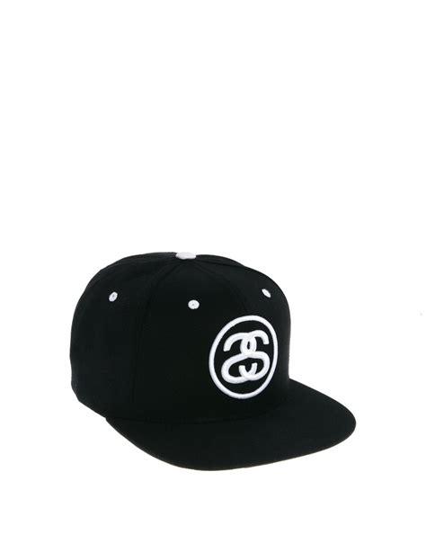 Topi Snapback Stussy New 1 stussy classic snapback cap in black for lyst