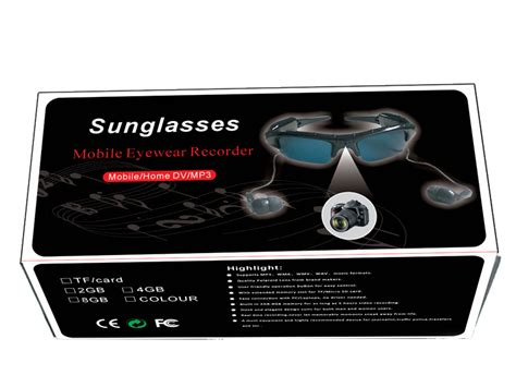 New Style Black Sunglass Function 480mah Battery Used As