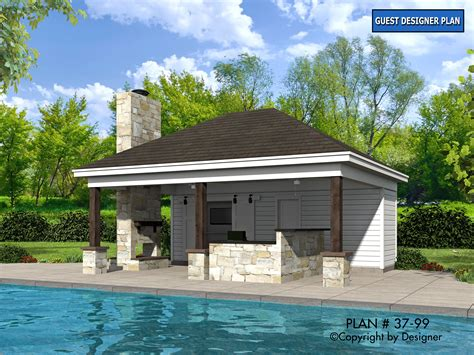 pool home plans pool house plan 37 99 house plans by garrell associates