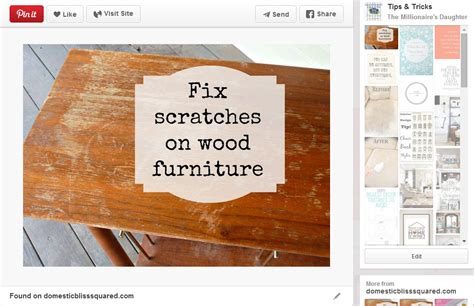 how to fix scratches on wood furniture the millionaire s