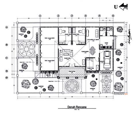 layout ruang tata usaha desain rumah dan ruang usaha ruko rukan 1 lantai pt