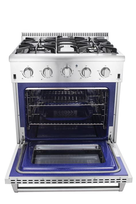 Oven Gas Aluminium professional 30 inch residential gas cooking range with