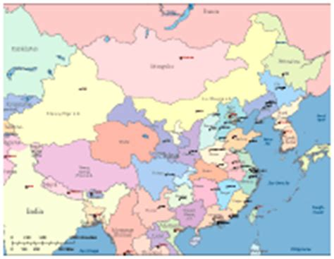map of china and surrounding countries editable china map with provinces major cities and