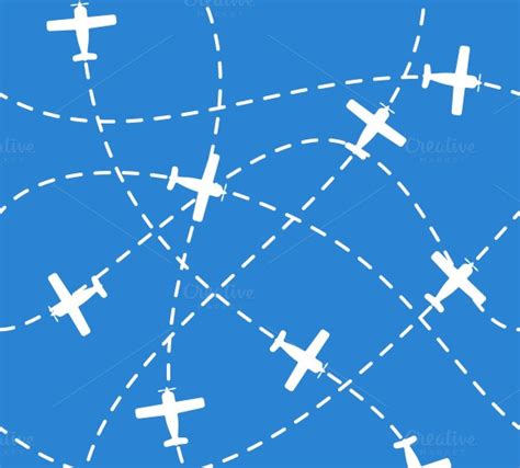 pattern plane video seamless background with airplanes patterns on creative