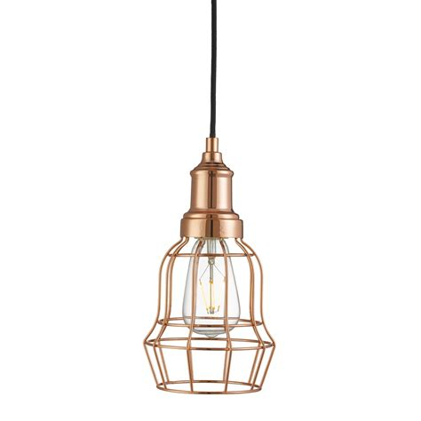 Cage Pendant Light Copper Tapered Cage Pendant Light 6836cu Stanways Stoves And Lights