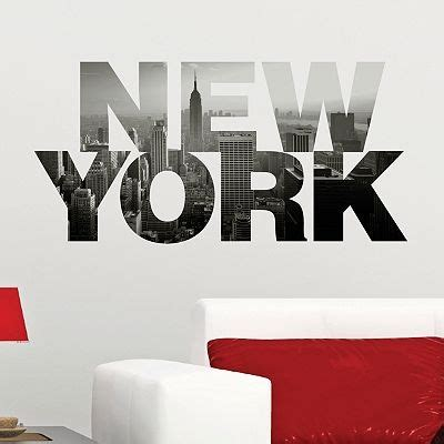 new york wall sticker dcwv quot new york quot wall sticker home by dcwv