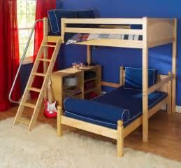 wood futon bunk bed decosee