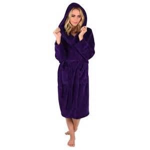 Sofa Shops Birmingham Ladies Purple Colour Luxury Soft Fleece Microfibre Hooded