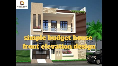 House Designs And Floor Plans In Kerala by Simple Budget House Front Elevation Design Best Indian