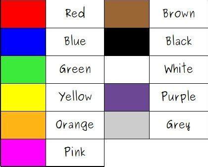 imagenes colores ingles colores en ingles ejemplos de