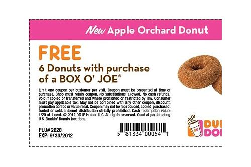 dunkin. donuts coupons