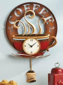 themed clock coffee cup theme kitchen wall clock metal home decor accent new i7485j44 kitchen wall clocks