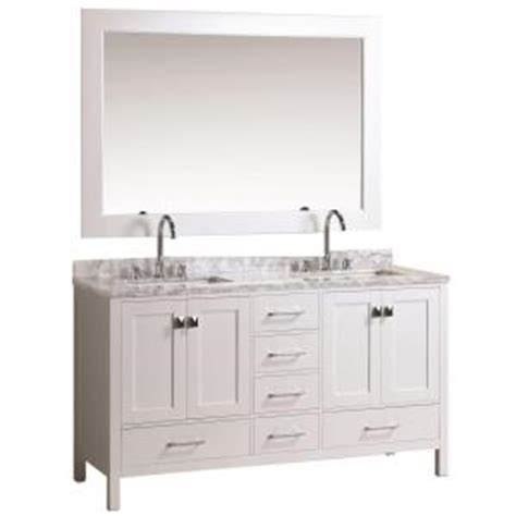 design elements vanity home depot design element london 61 in w x 22 in d double vanity in white with marble vanity top and