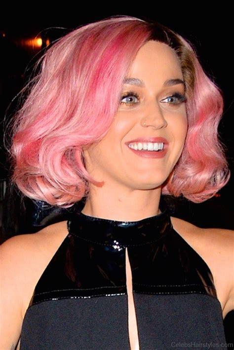 katy perry hairstyle short sleek blue bob cut hairstyles