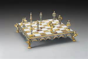 themed chess sets medioevale medieval gold and silver themed chess board