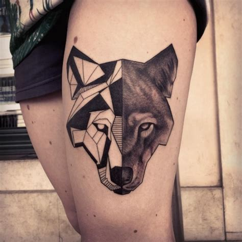 50 meaningful geometric animals tattoos we handpicked for you