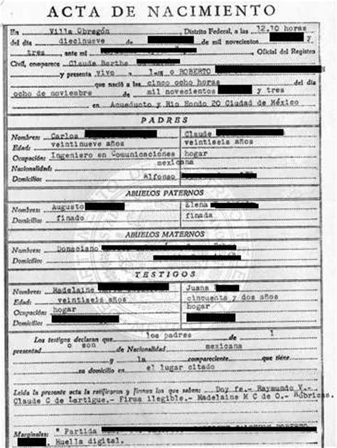 spanish birth certificate template birth certificate