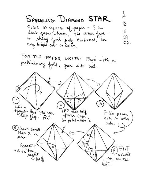 Origami One Sheet - free coloring pages origami page 2 one page