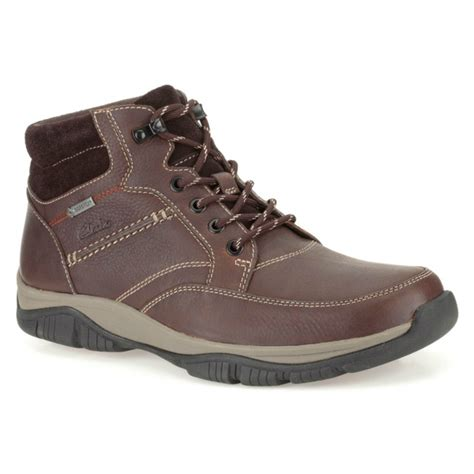 clarks mens boots brown clarks mens rartmid gtx brown waterproof warm lined
