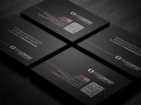 business card with qr code template corporate qr code business card v2 by glenngoh on deviantart