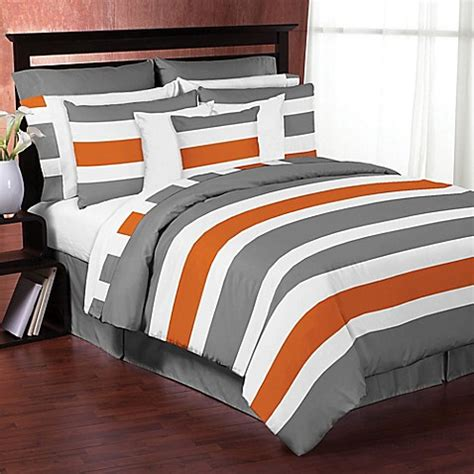 orange and gray bedding sweet jojo designs grey and orange stripe bedding