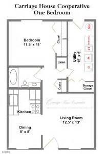 600 Sq Ft Home Plans Floor Plans Carriage House Cooperative