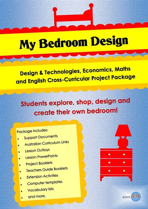 cross curricular my bedroom design project unit of work combining design technologies
