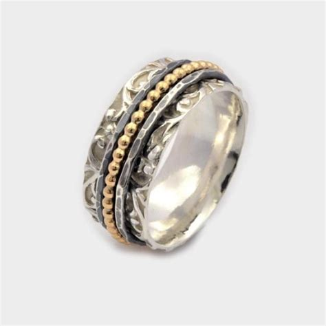 sterling silver new meditation ring spinning ring